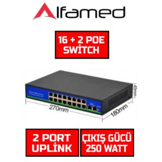 16 Port PoE Switch 10/100/1000 Gigabyte