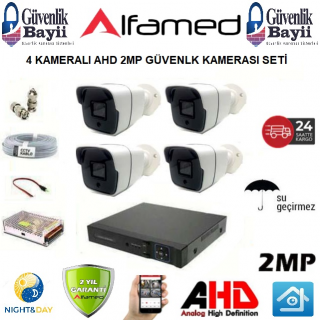 4 KAMERALI 2MP 1080P AHD GÜVENLİK SETİ ALFA-1510