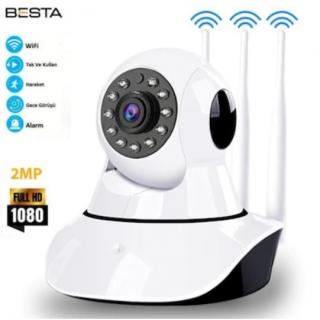 Kablosuz IP Kamera 1080p 2MP 3 Antenli BB-1603